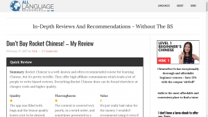 Language learning resources review