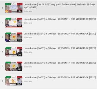 learn italian youtube